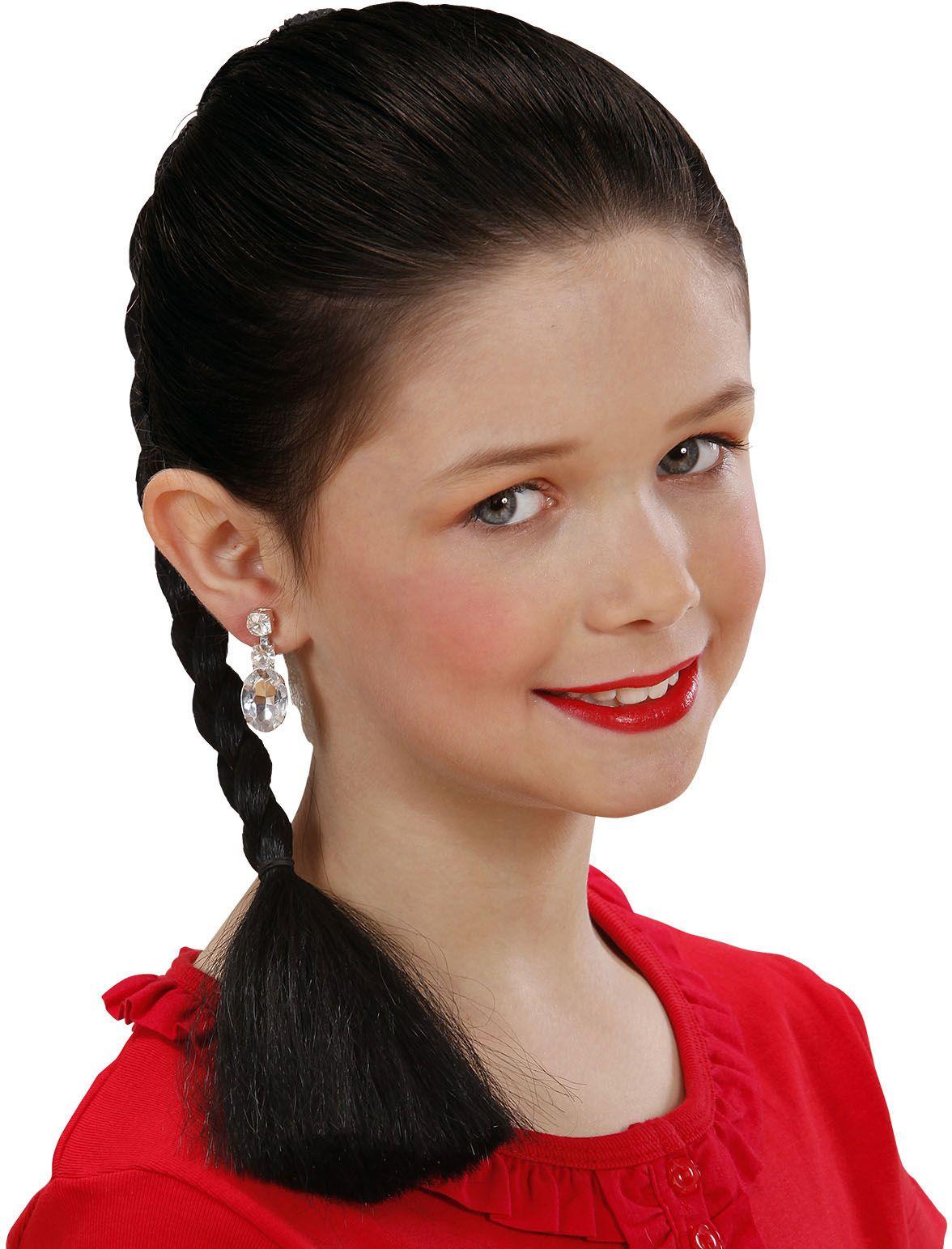 Gevlochten haarextensie zwart
