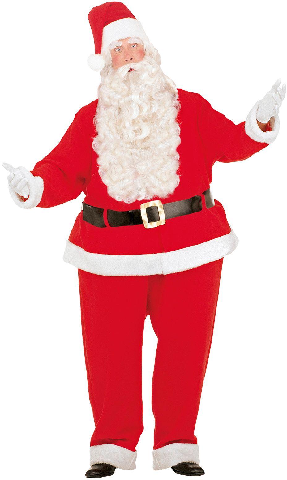 Gezette kerstman kostuum