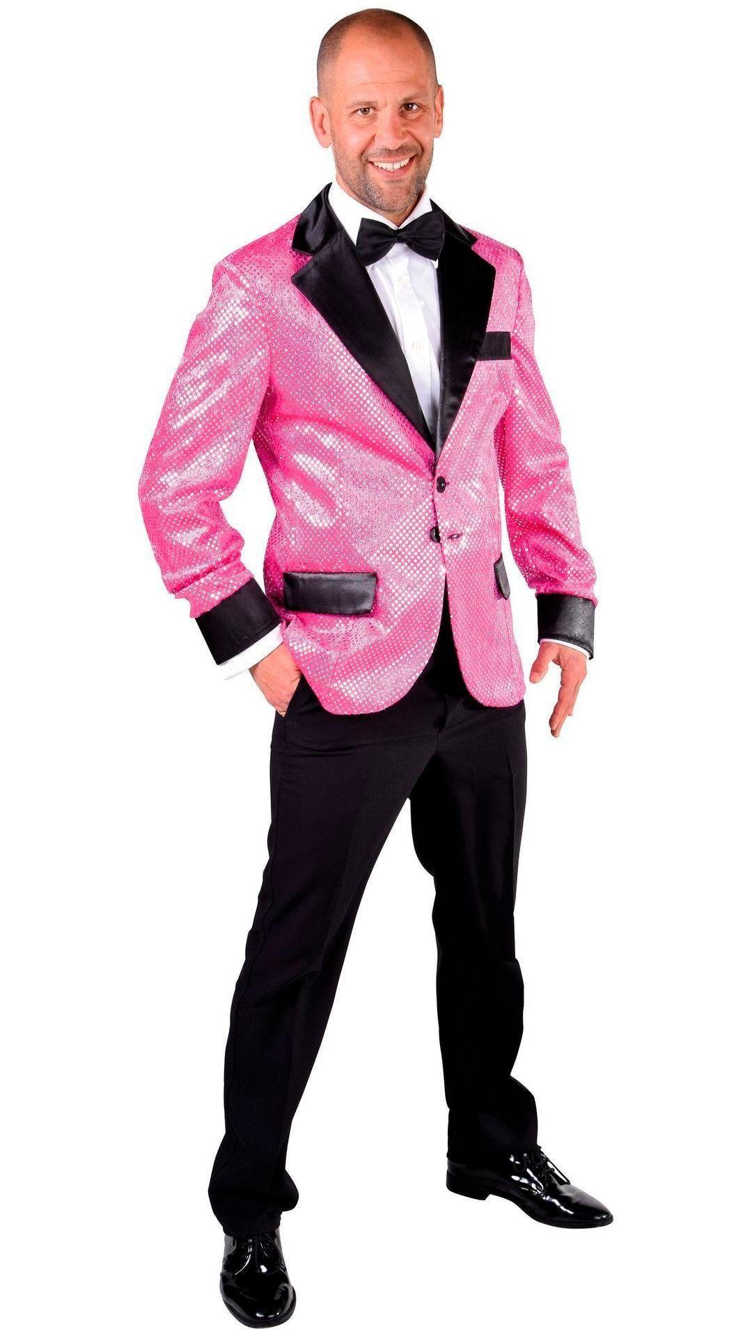 Glitter colbert roze