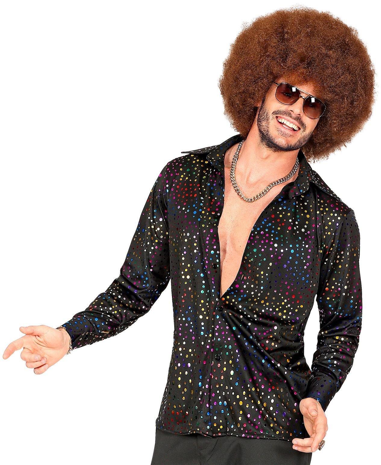 Glitter disco heren blouse