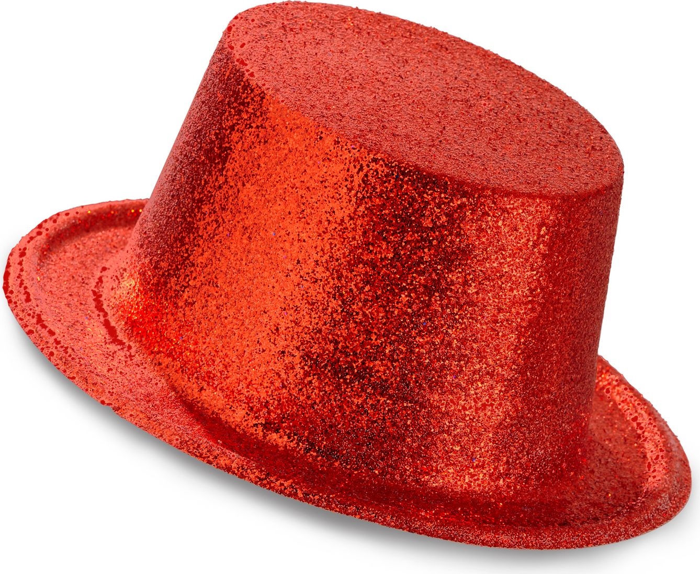Glitter hoge hoed rood