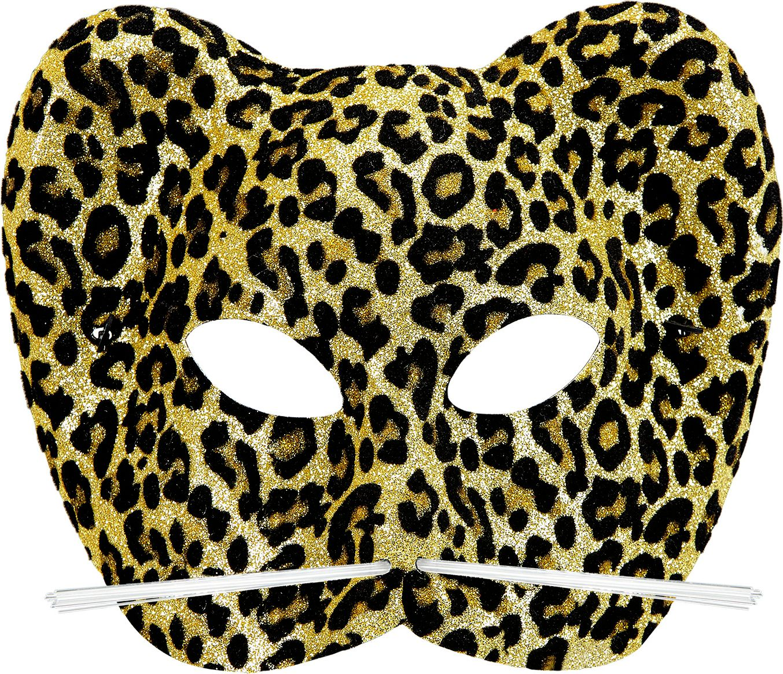 Glitter luipaard print oogmasker