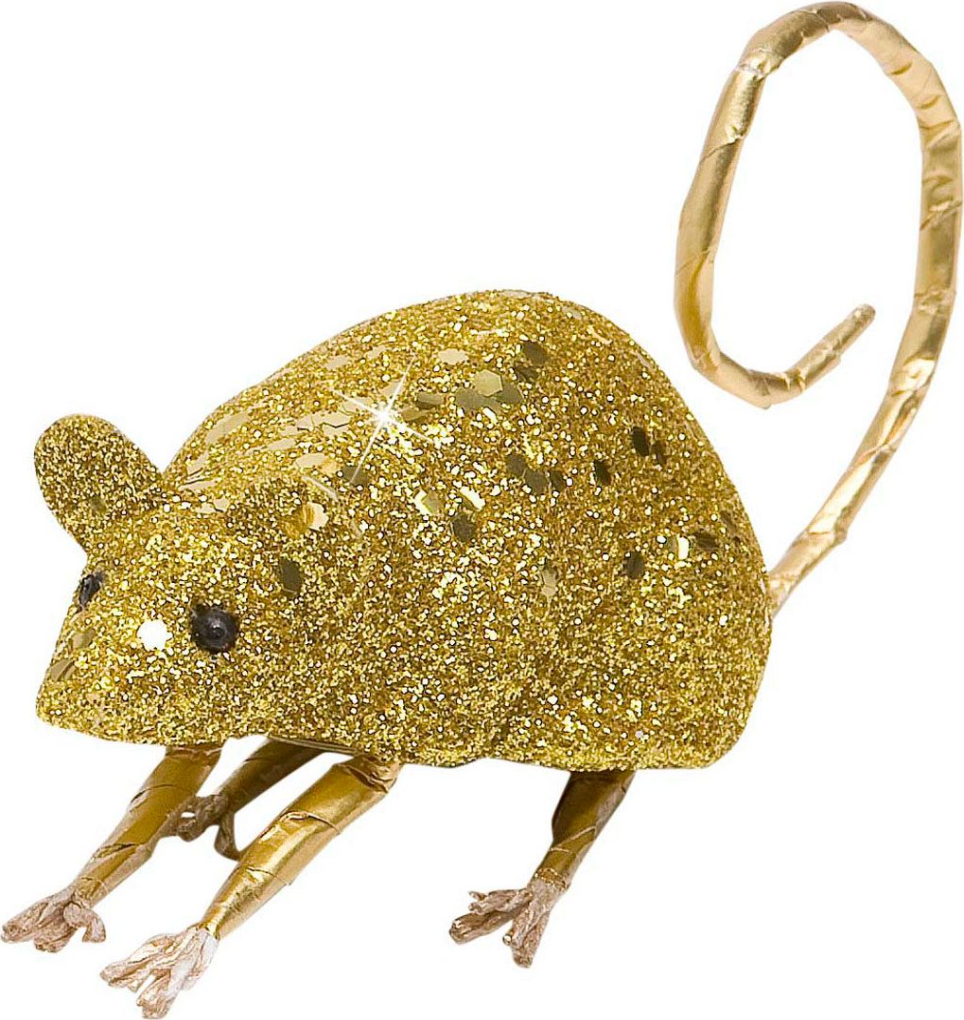 Glitter muis goud