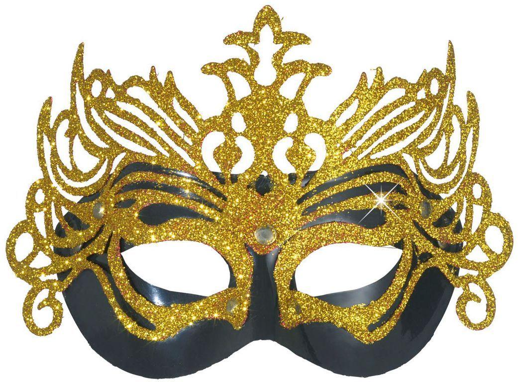 Glitter oogmasker goud