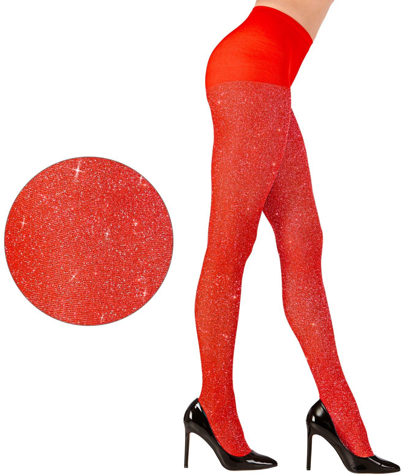 Glitter panty rood