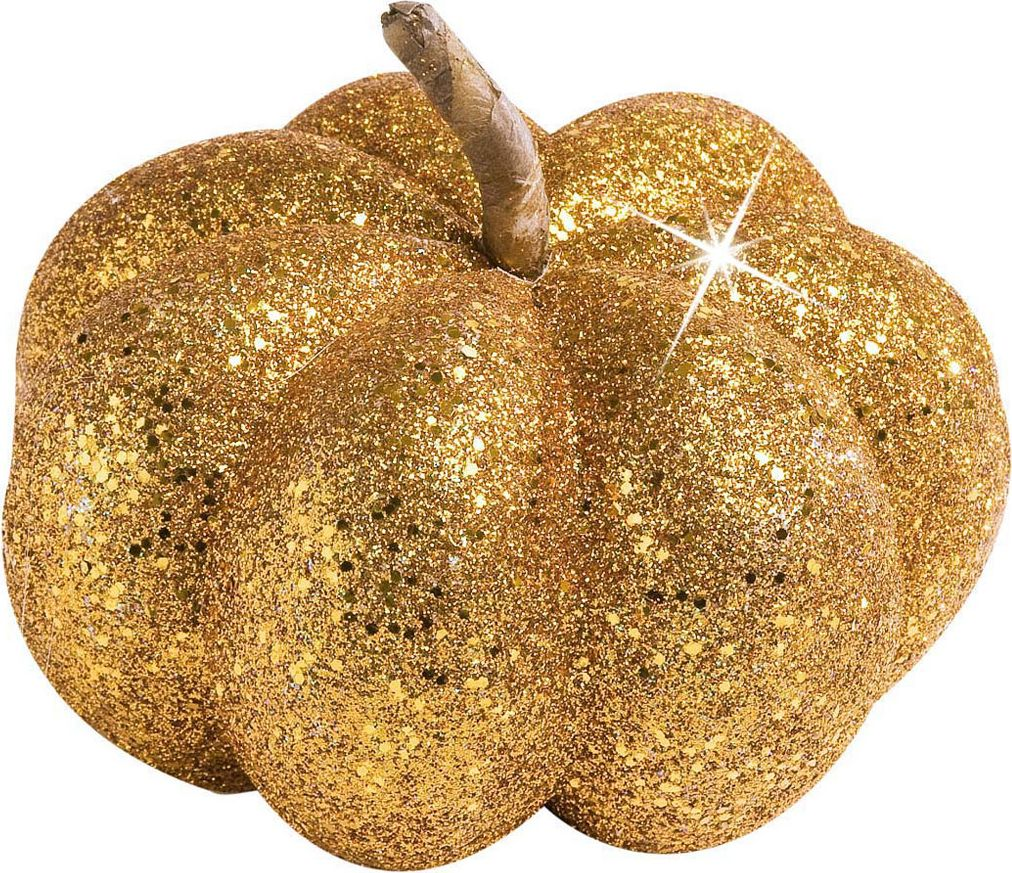Glitter pompoen oranje