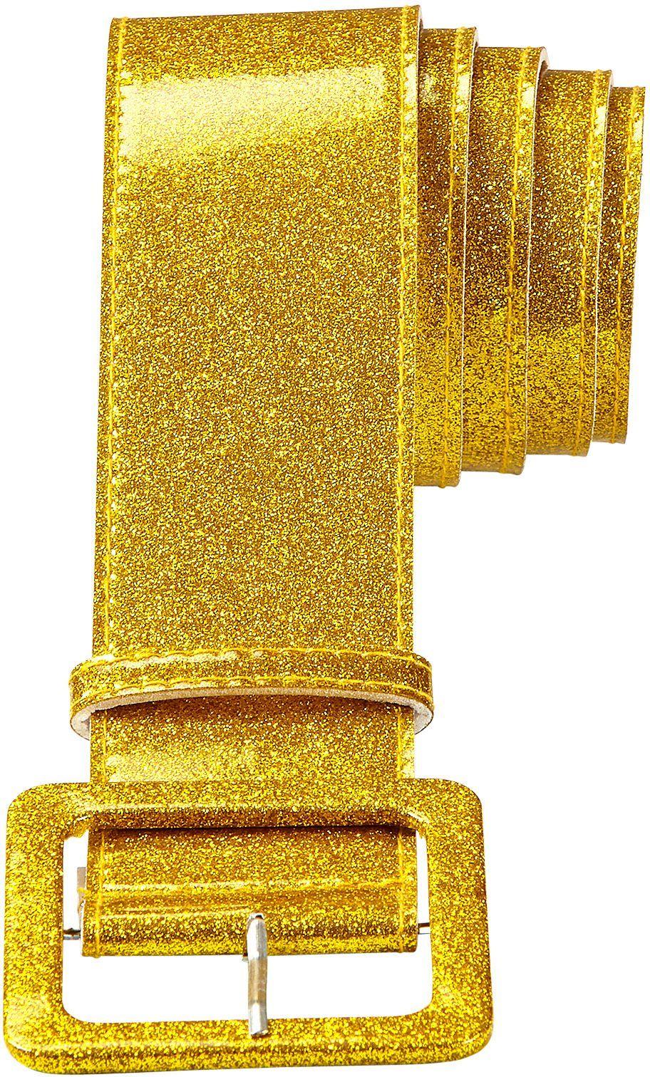 Glitter riem dames goud