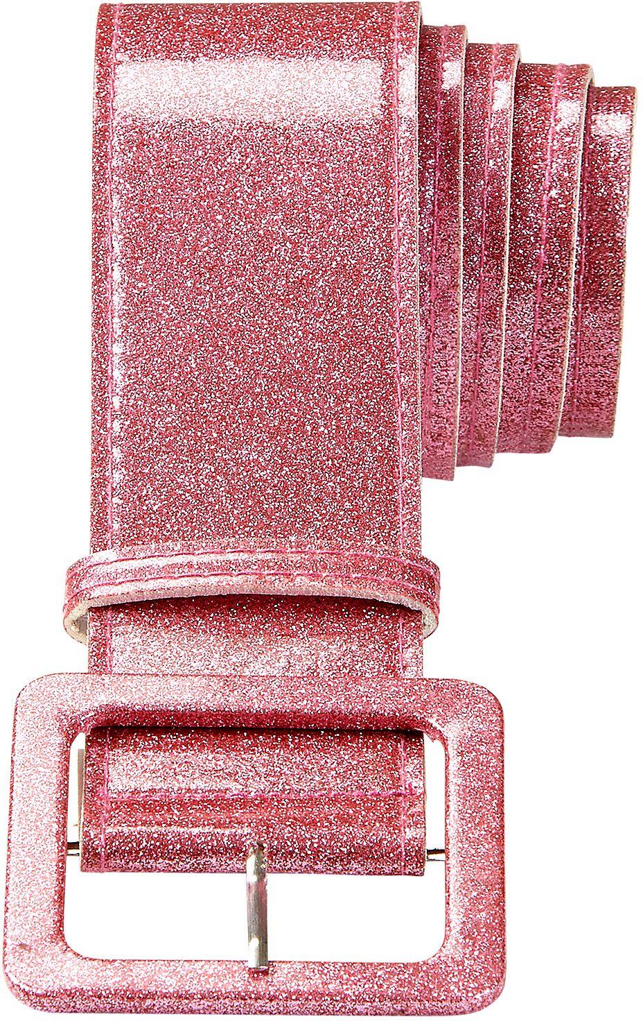 Glitter riem dames roze