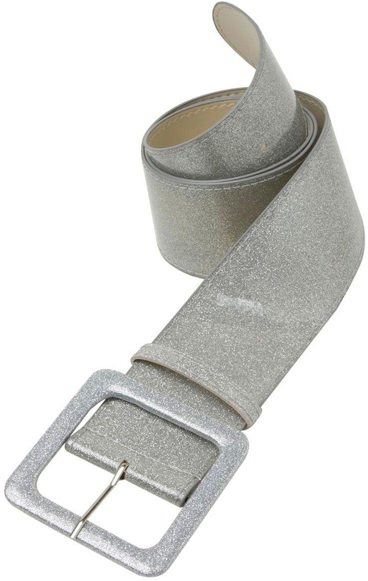 Glitter riem zilver
