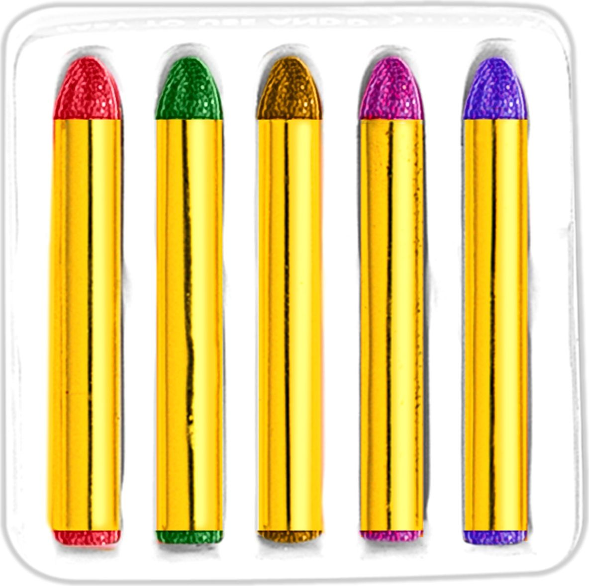 Glitter schminkstiften 5 stuks