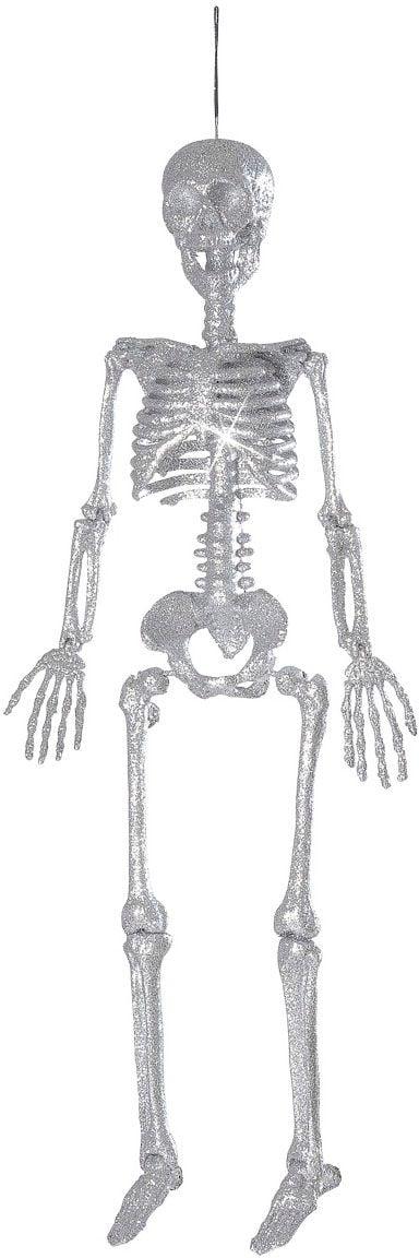 Glitter skelet zilver