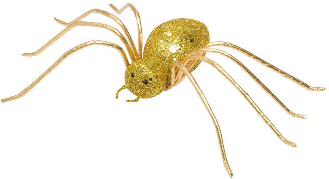 Glitter spin decoratie goud