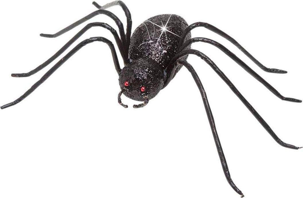 Glitter spin decoratie zwart