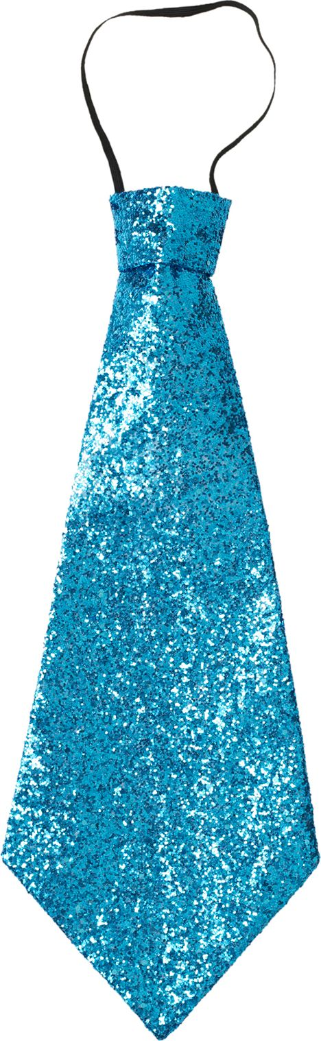 Glitter stropdas blauw