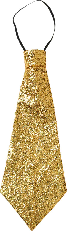 Glitter stropdas goud