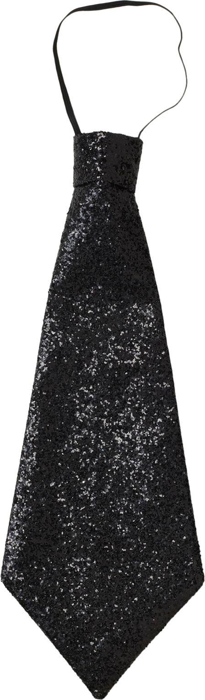 Glitter stropdas zwart