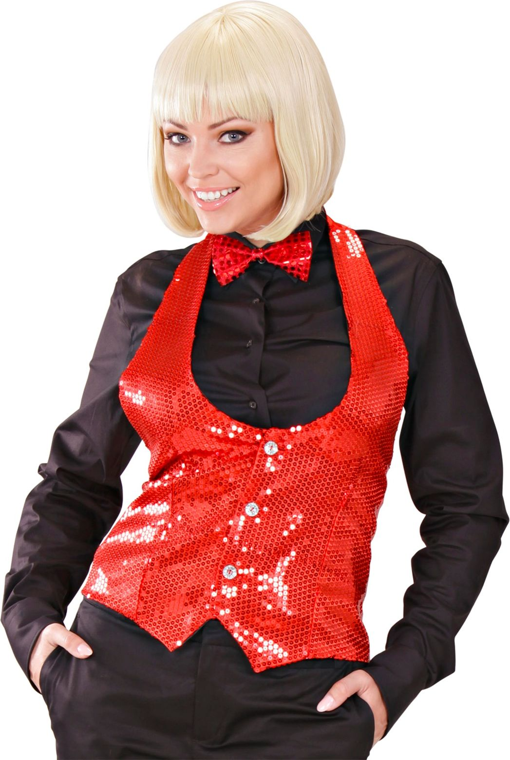 Glitter top rood