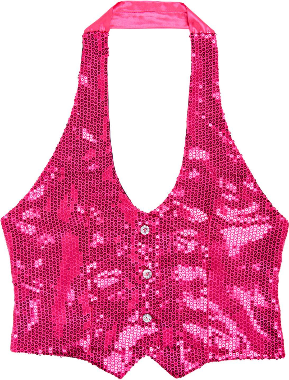 Glitter top roze