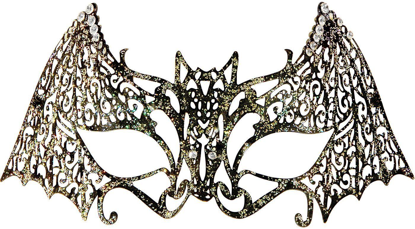 Glitteren vleermuis oogmasker