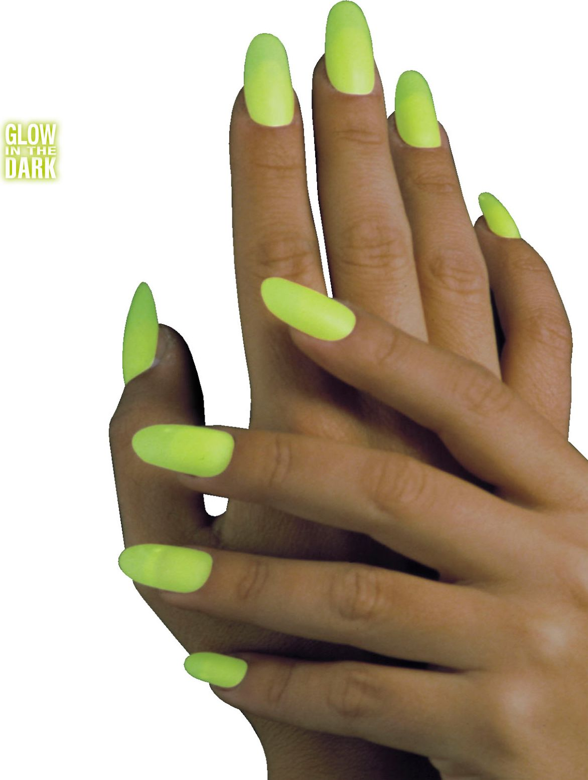 Glow in the dark nagels 15 stuks