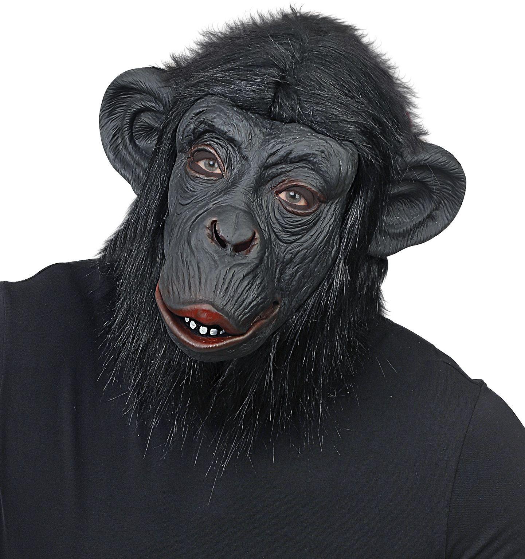 Gorilla apen masker zwart heren