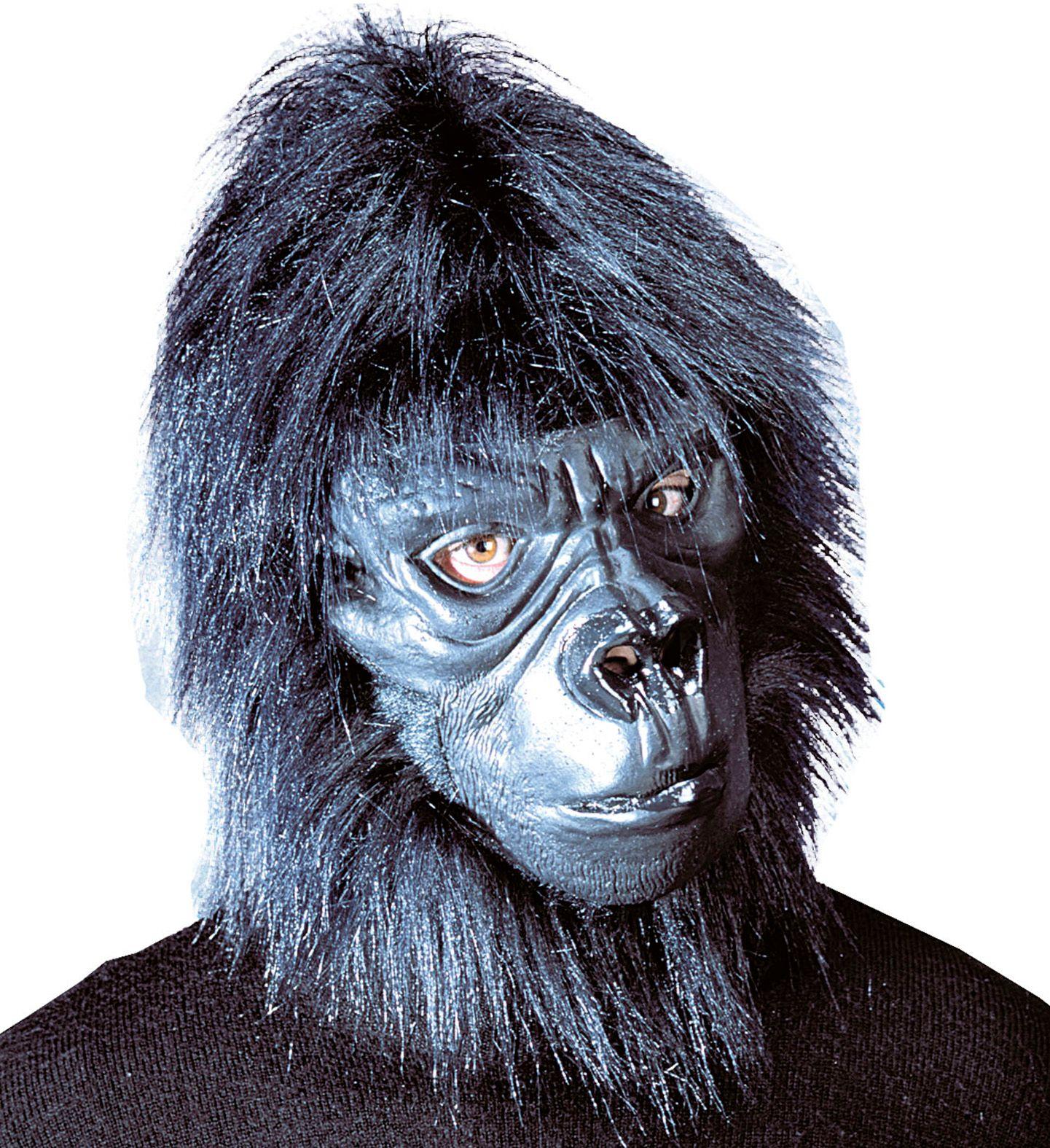 Gorilla masker zwart