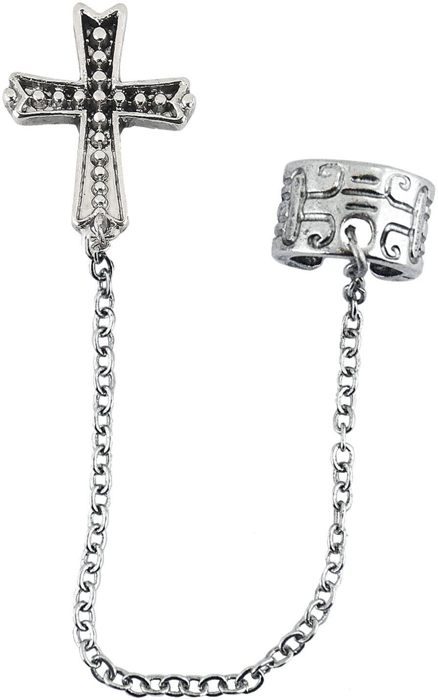 Gothic zilveren kruis oorbellen