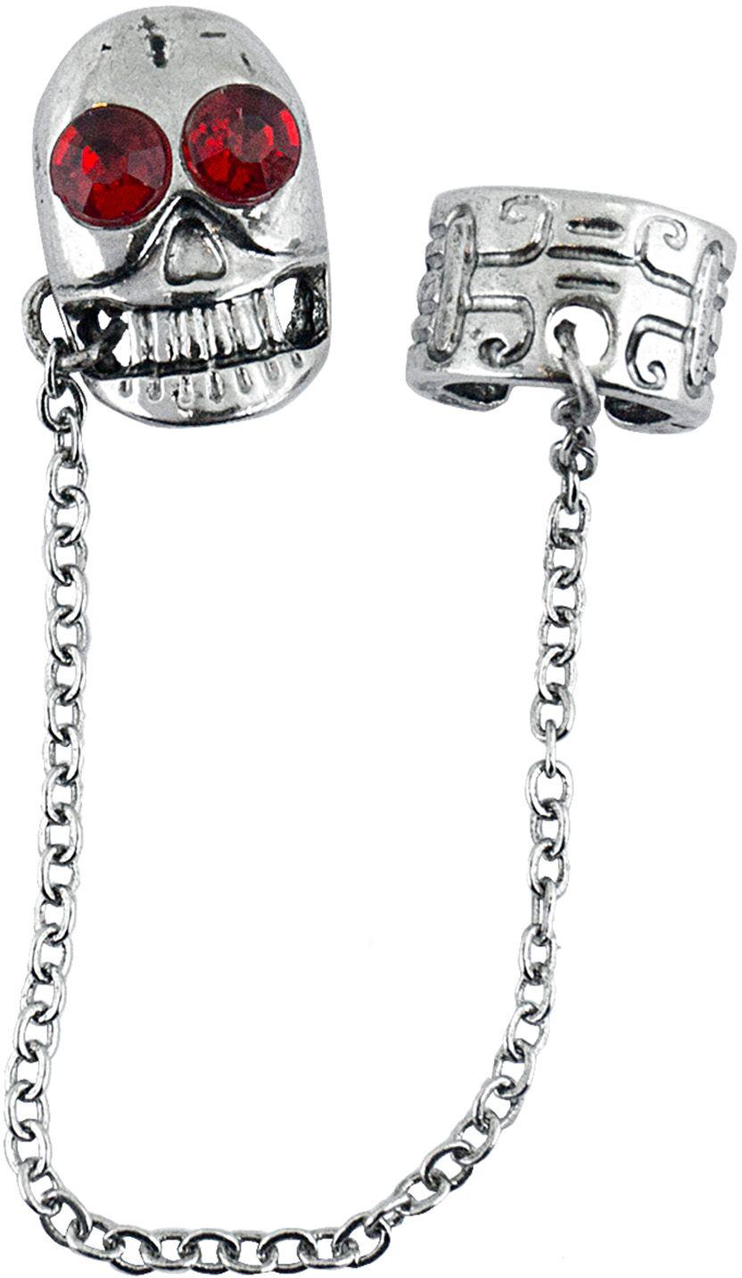 Gothic zilveren schedel oorbellen