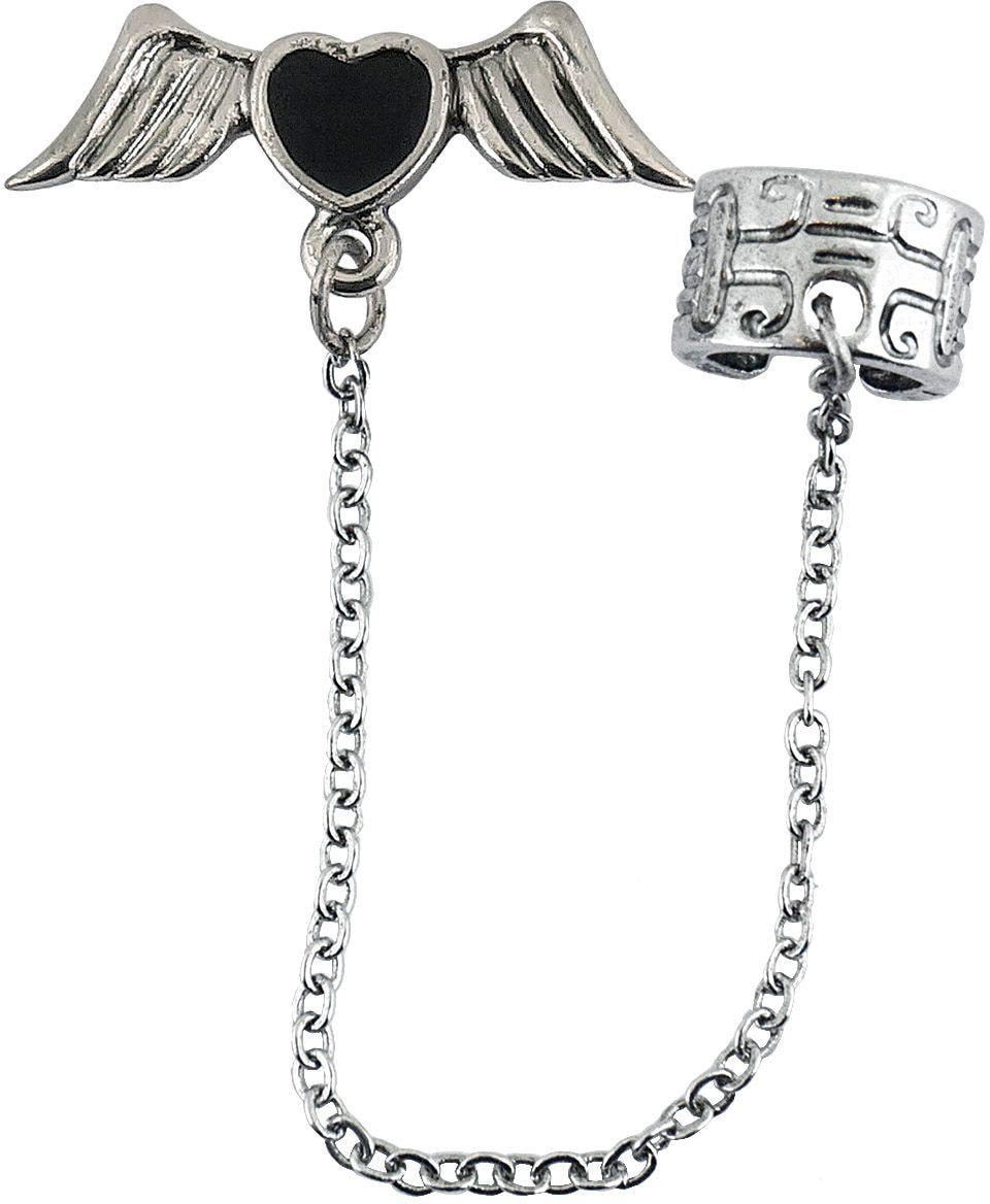Gothic zilveren vleugels oorbellen