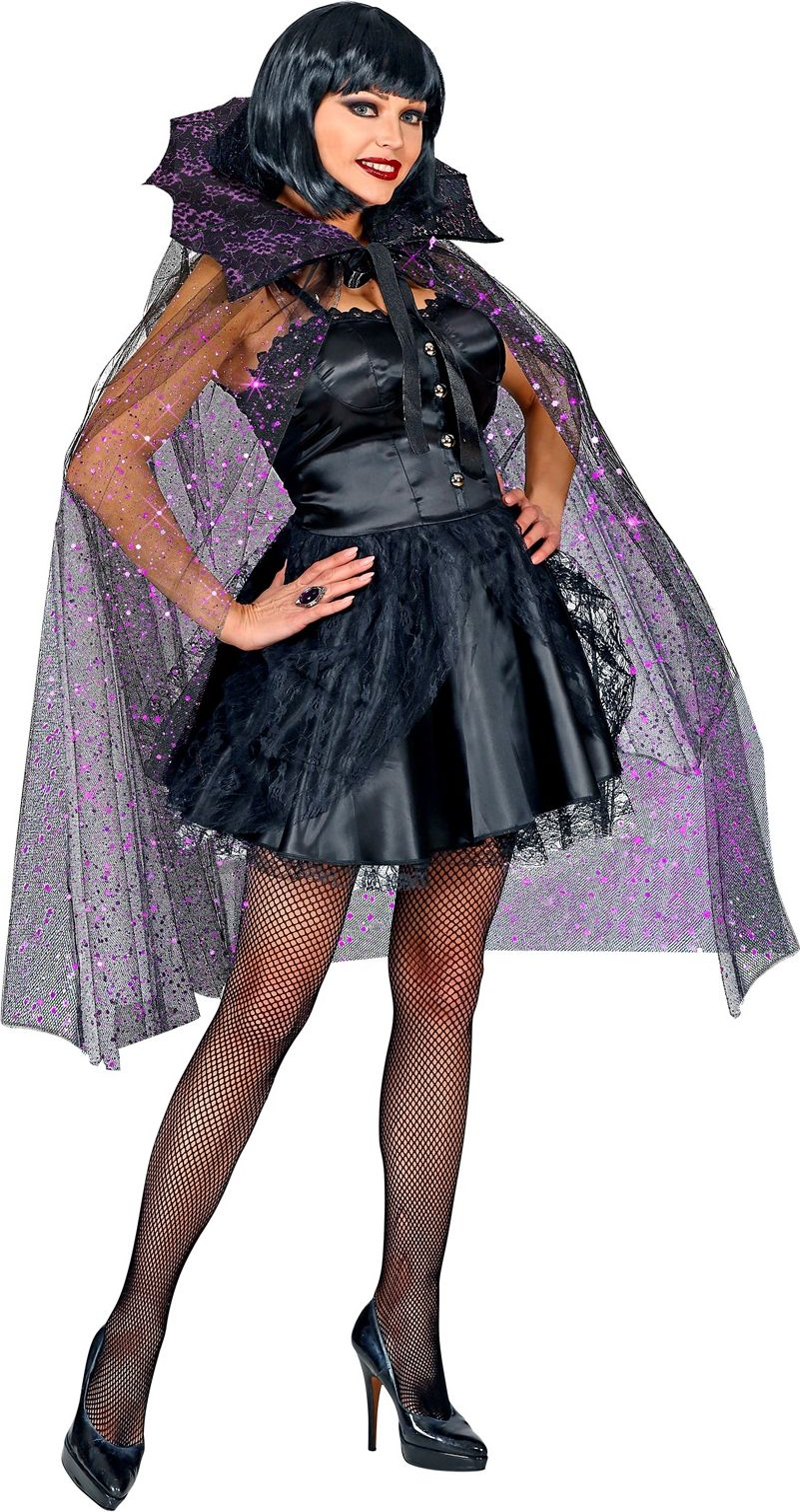 Gotische glitter tule cape