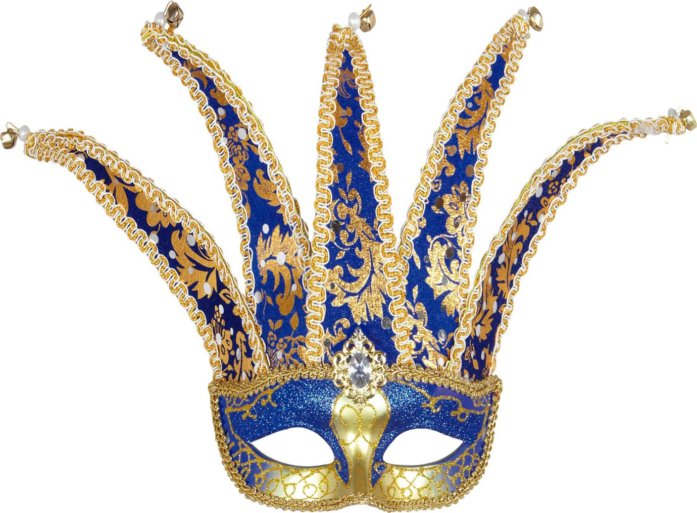 Goud blauw nar masker
