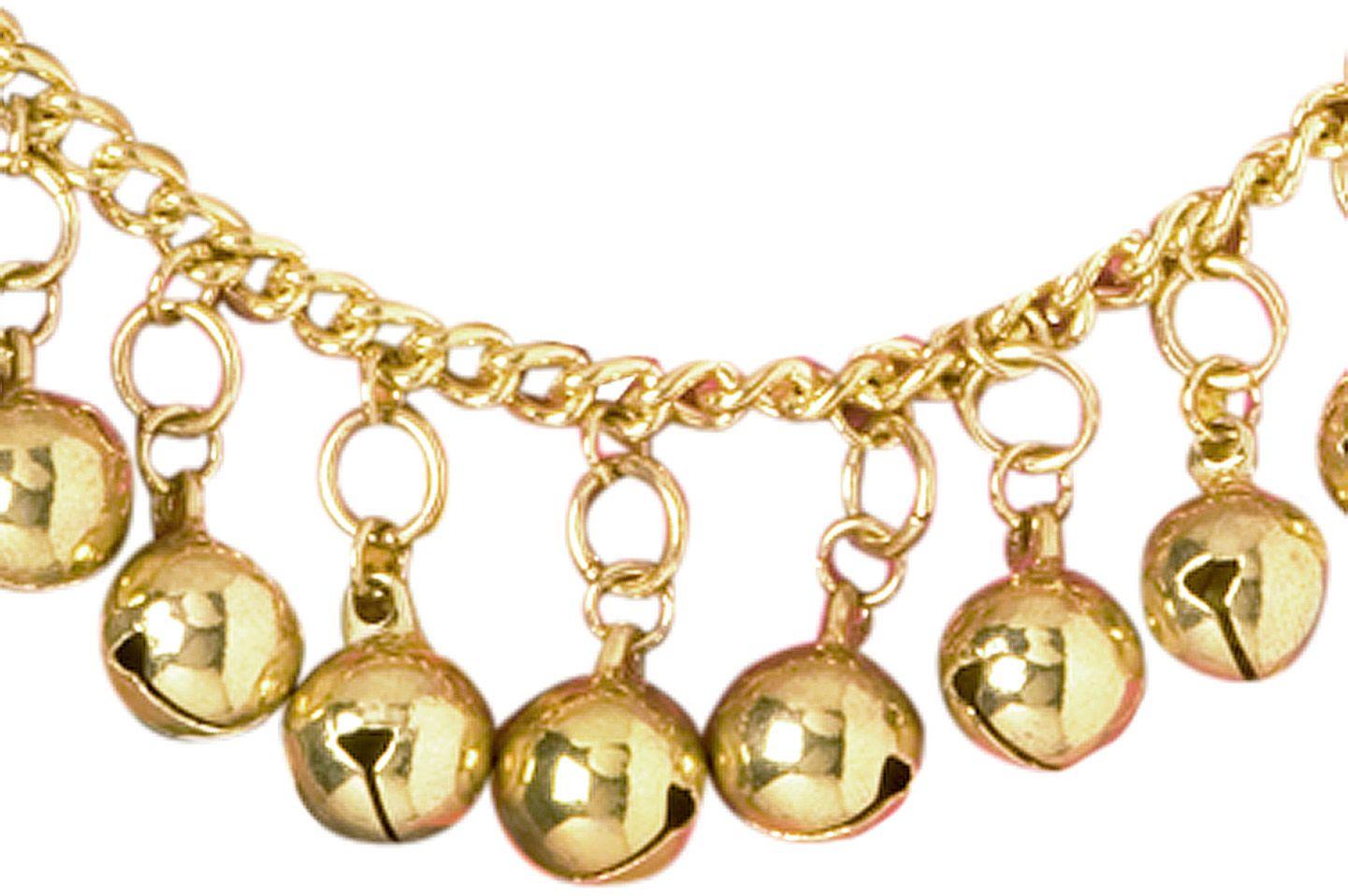 Gouden belletjes enkelband