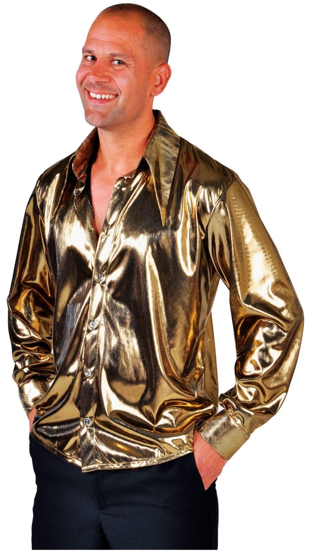 Gouden carnavalsblouse mannen