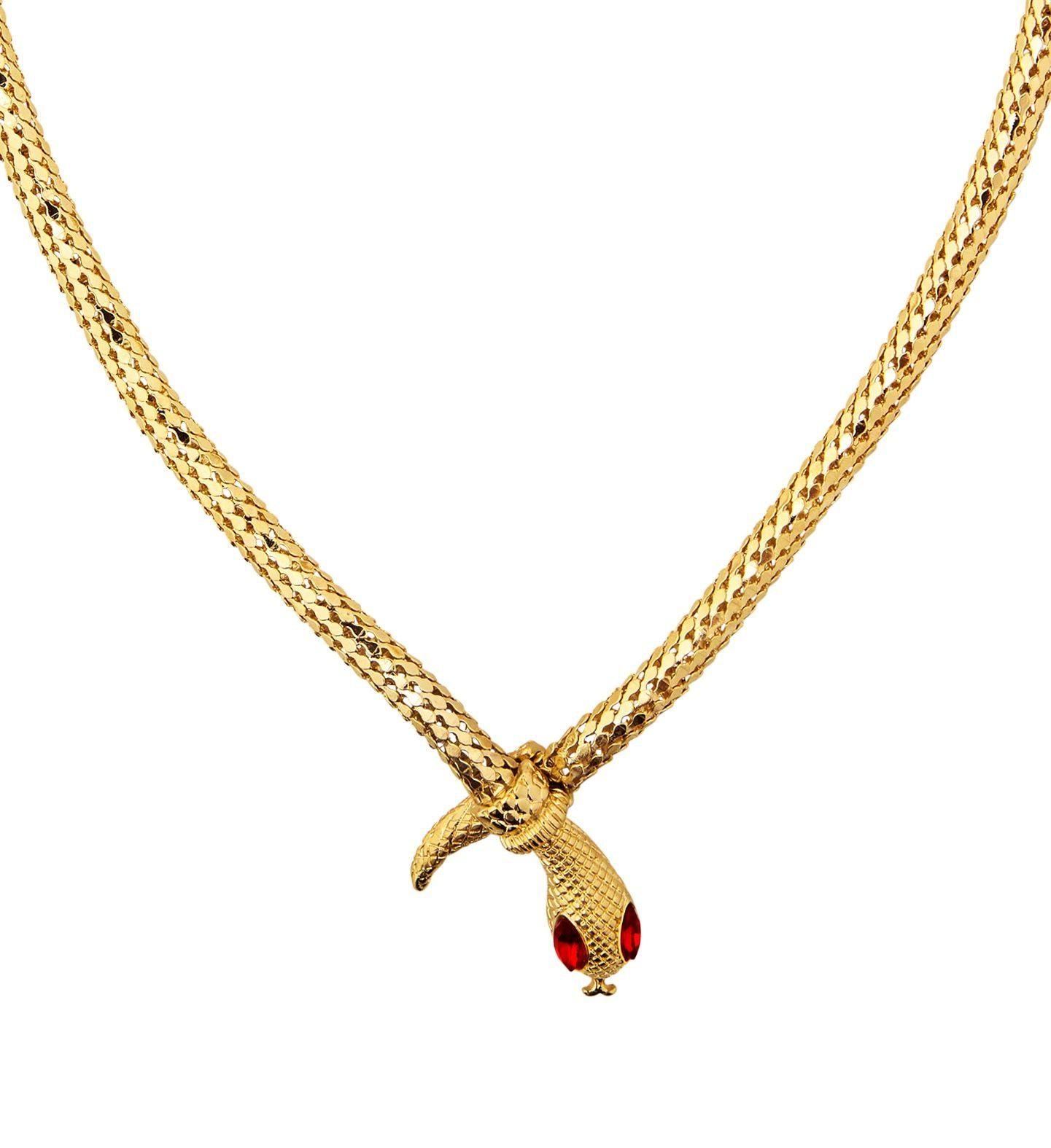 Gouden egyptische slangen ketting