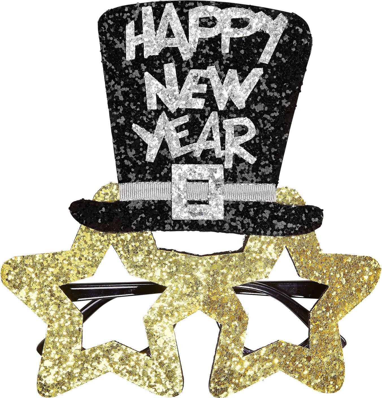 Gouden gelukkig nieuwjaar bril