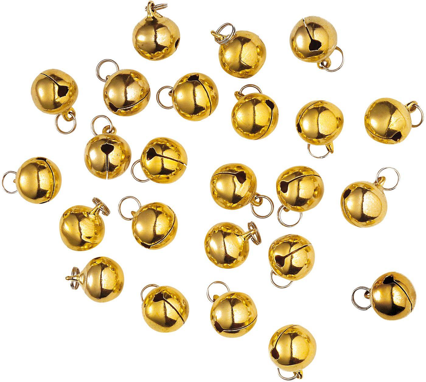 Gouden kerstbelletjes set 24 stuks