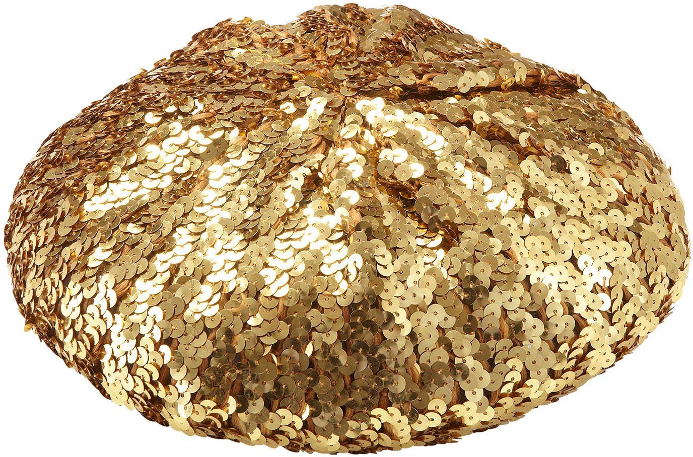 Gouden pailletten baret