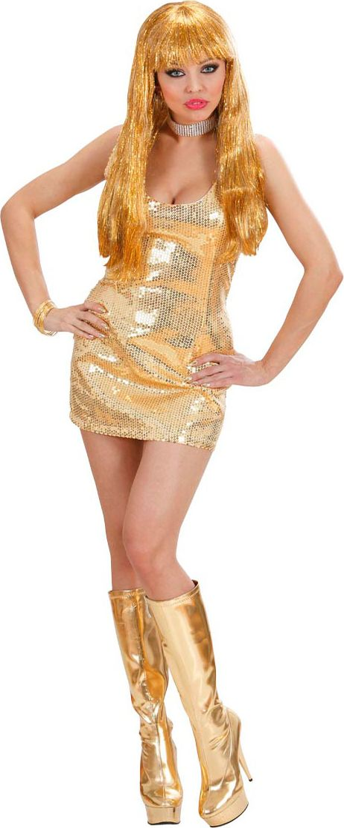 Gouden pailletten jurk