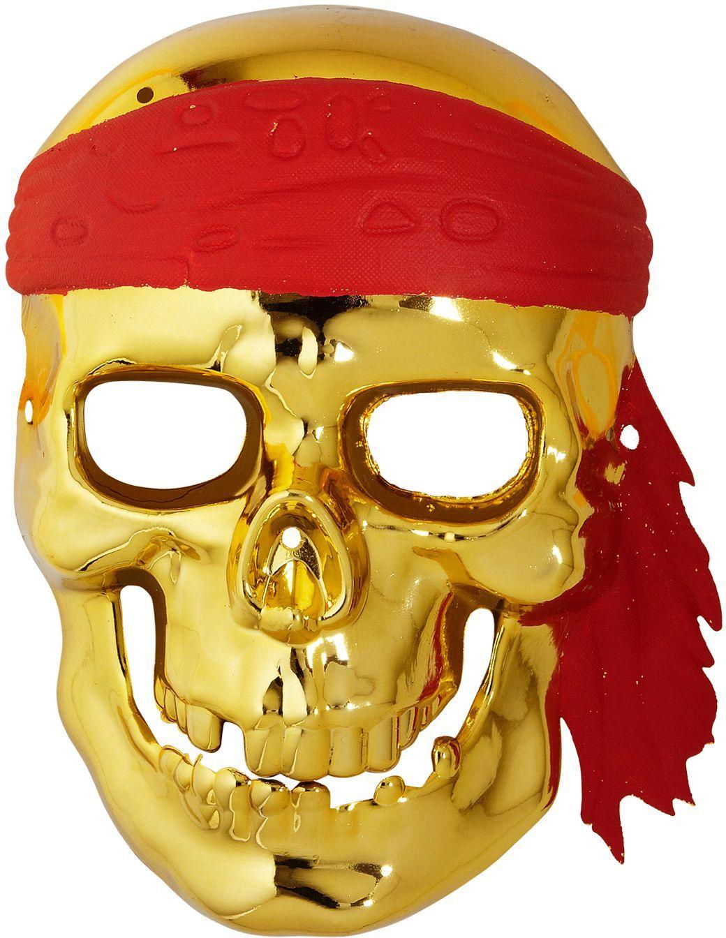 Gouden piraten schedelmasker