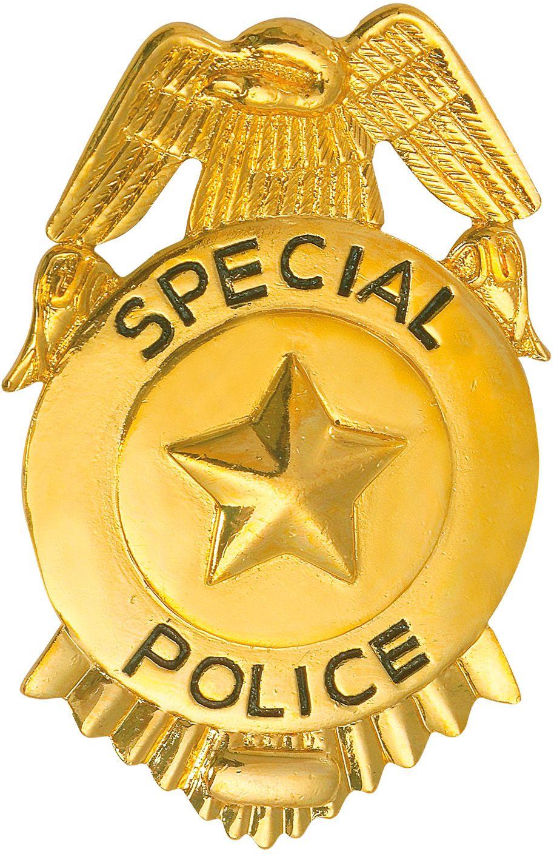 Gouden politie badge