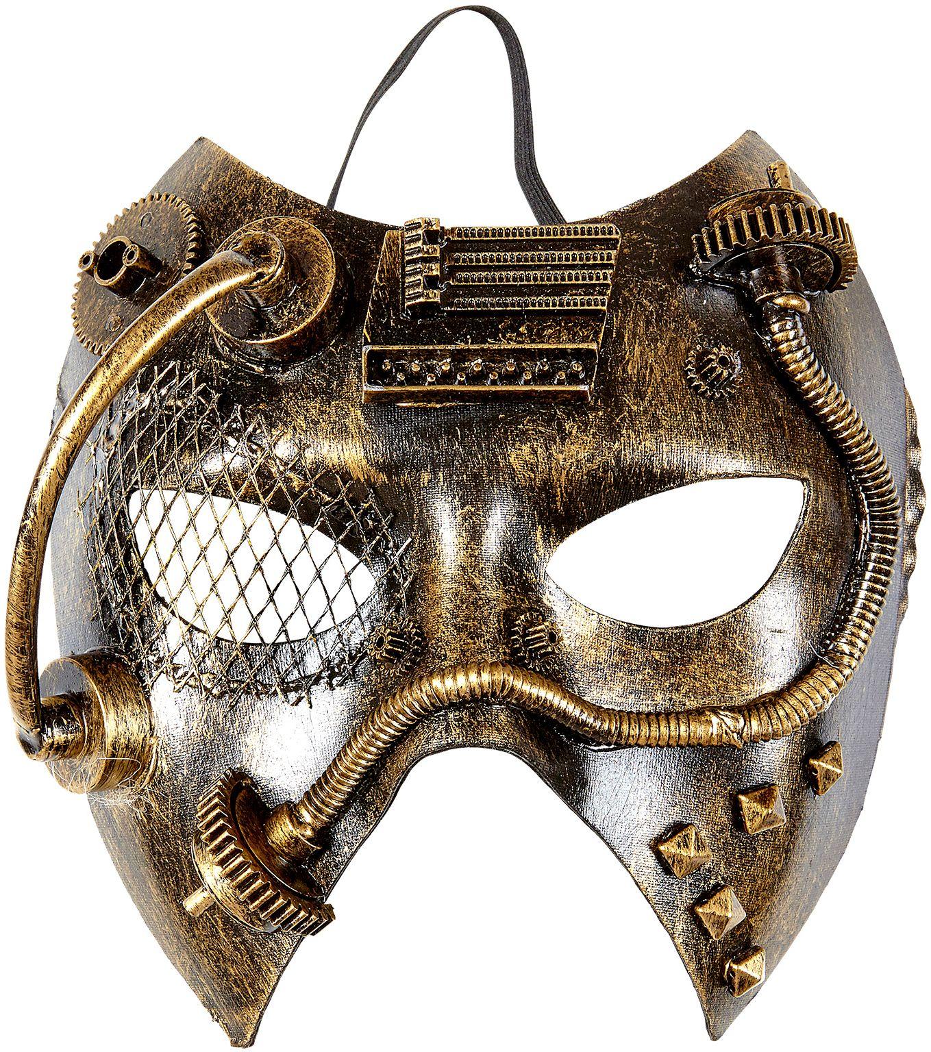 Gouden steampunk masker