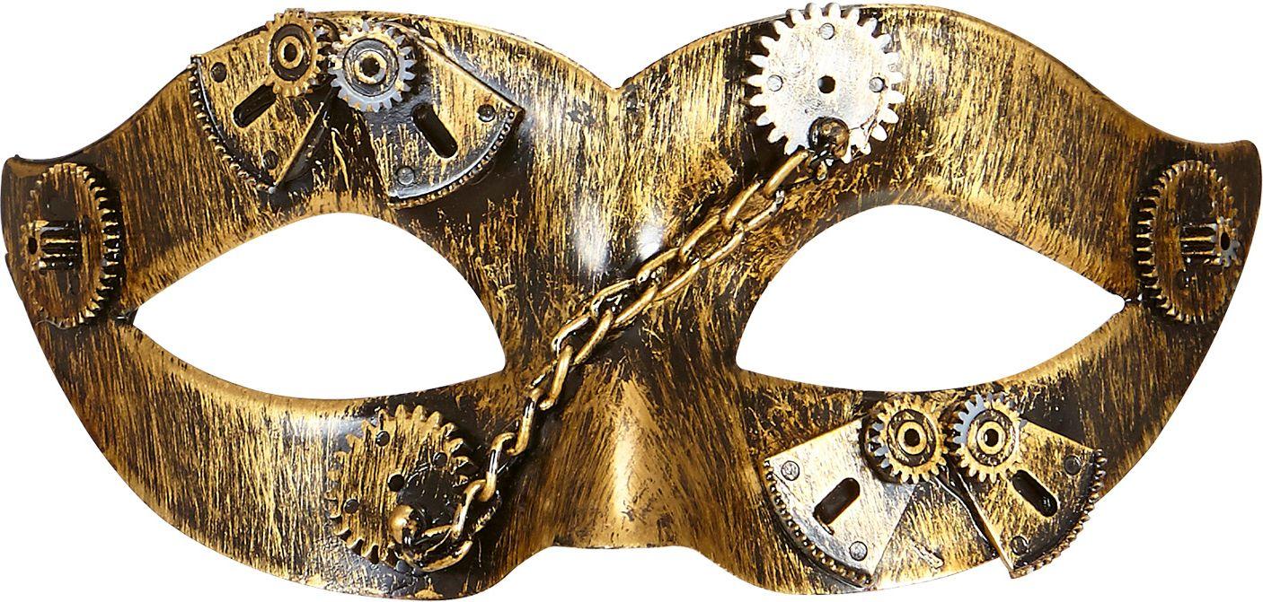 Gouden steampunk oogmasker