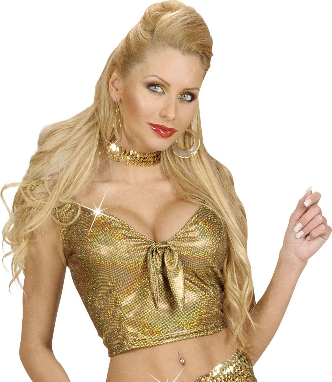 Gouden top met strik