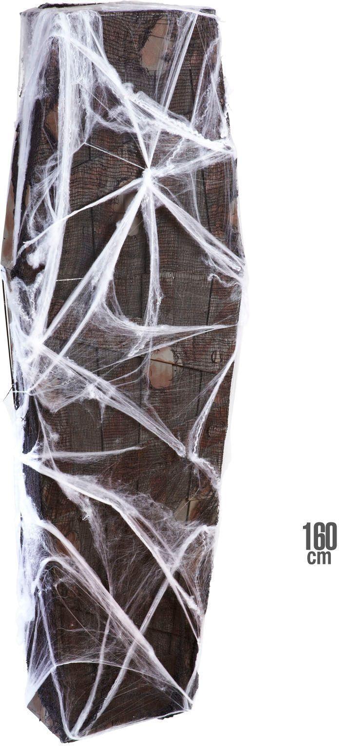 Grafkist met net en spinnenweb