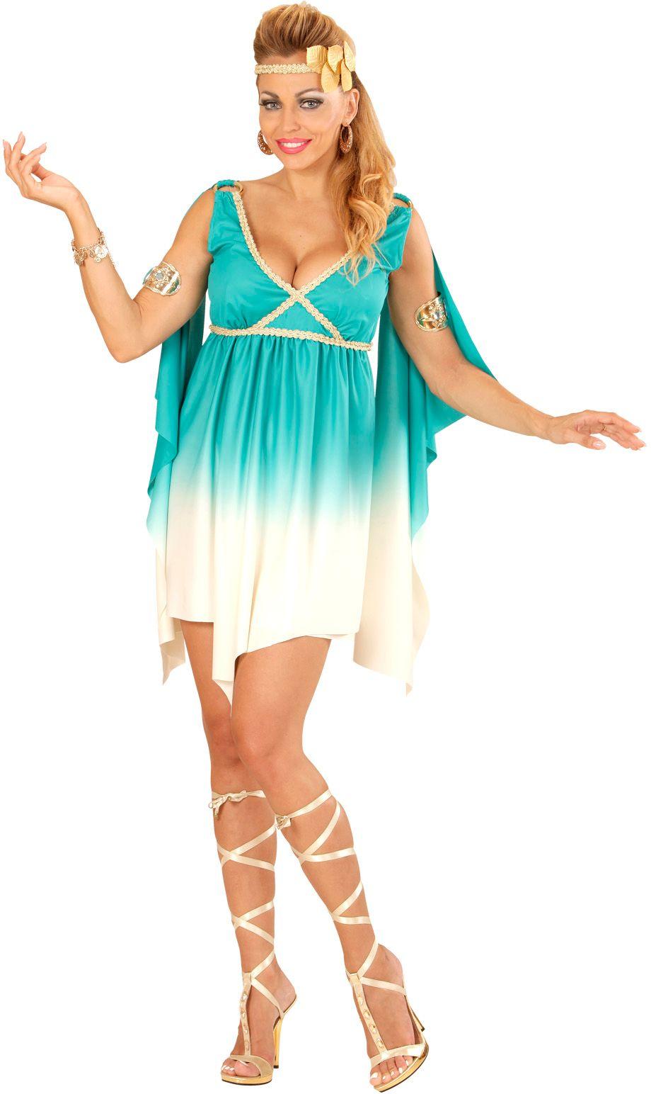 Griekse godin blauw/wit