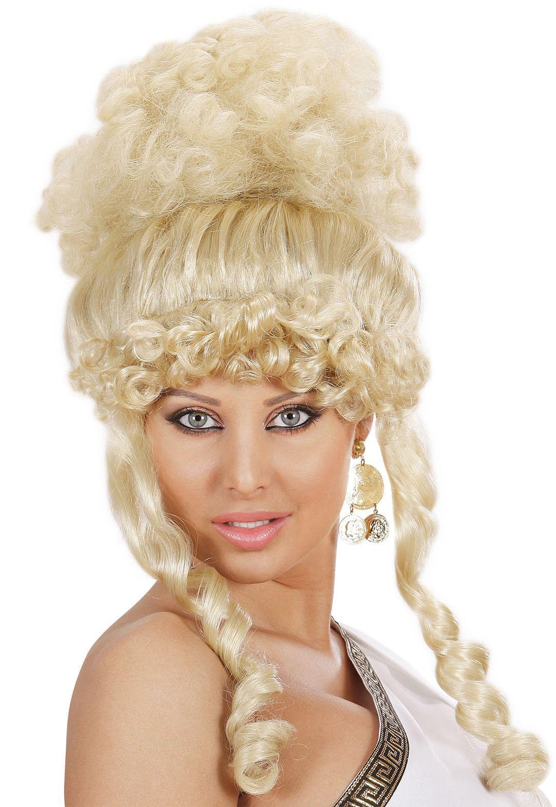 Griekse godin pruik blond