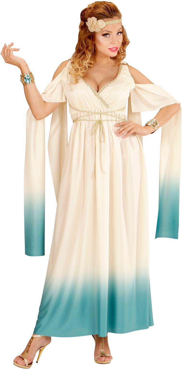 Griekse godin wit/blauw