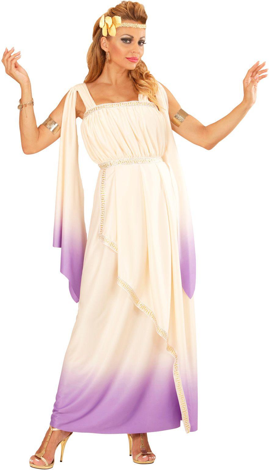 Griekse godin wit/paars