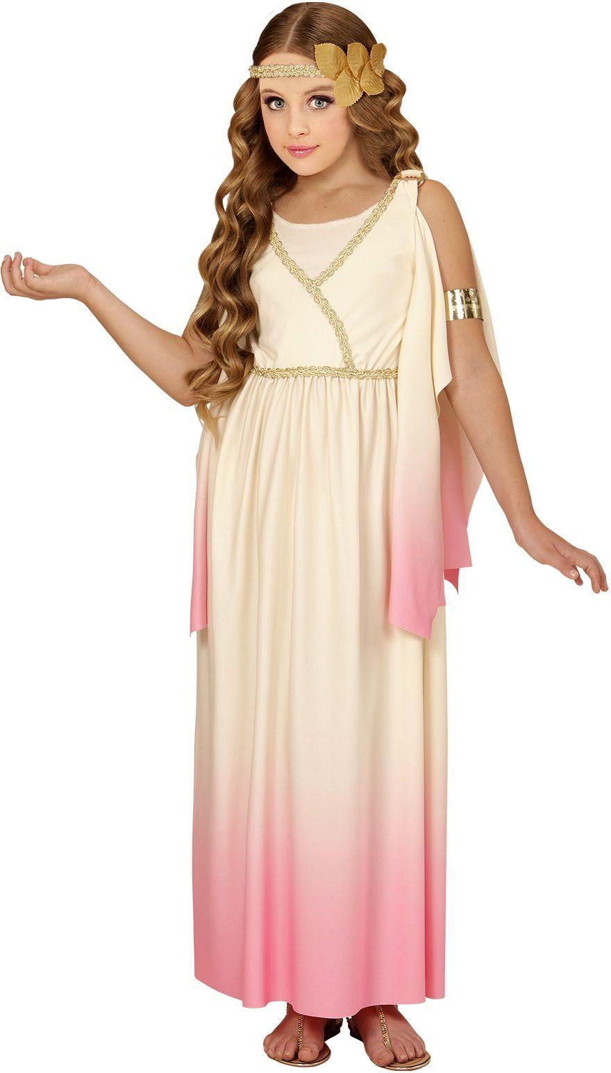 Griekse godin wit/roze kind