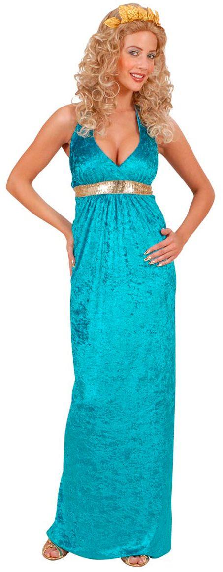 Griekse jurk blauw